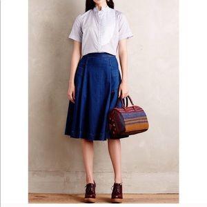 NWT {Anthro} Tracy Reese DenimCircle Skirt size 12